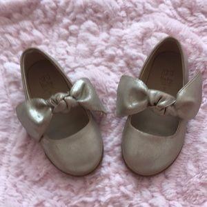 Zara Baby Gold Ballerinas